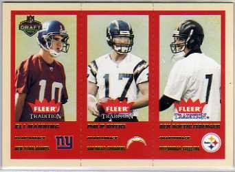 2004 Fleer Tradition Draft Day #351 Eli Manning/Philip Rivers/Ben Roethlisberger