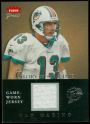 2004 Greats of the Game Glory of Their Time Game Used Silver #DM Dan Marino