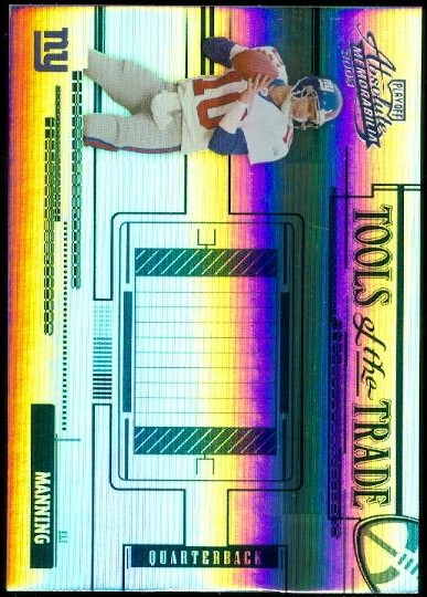 2005 Absolute Memorabilia Tools of the Trade Blue Spectrum #32 Eli Manning