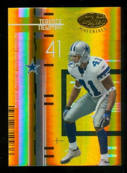 2005 Leaf Certified Materials Mirror Gold #33 Terence Newman