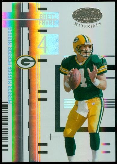 2005 Leaf Certified Materials Mirror White #44 Brett Favre