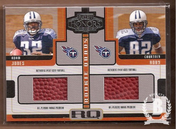 2005 Playoff Honors Rookie Quad Footballs #RQ4 Adam Jones/Courtney Roby/Matt Jones/Mark Clayton