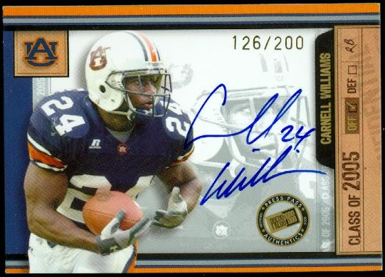 2005 Press Pass SE Class of 2005 Autographs #CW Cadillac Williams/200