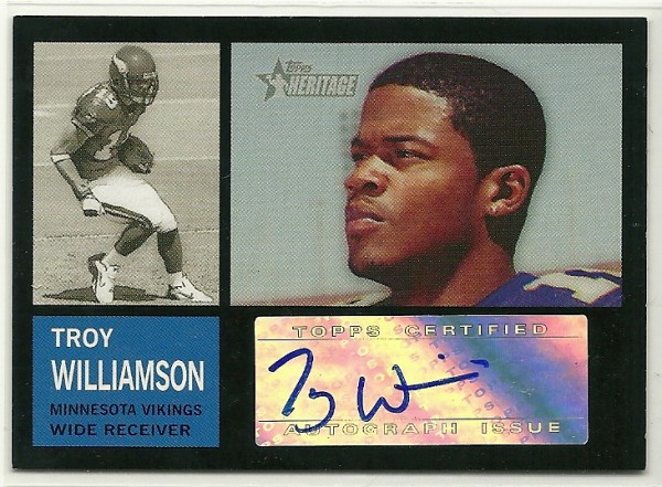 2005 Topps Heritage Real One Autographs #ROATW Troy Williamson E