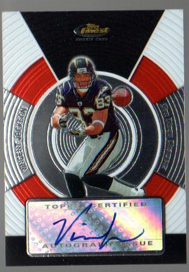 2005 Finest #175 Vincent Jackson AU RC