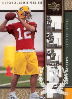 2005 Upper Deck Rookie Premiere Gold #16 Aaron Rodgers