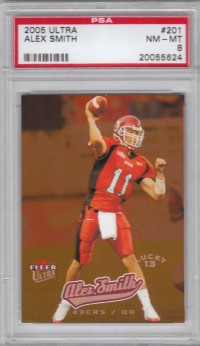 2005 Ultra #201 Alex Smith QB L13 RC front image