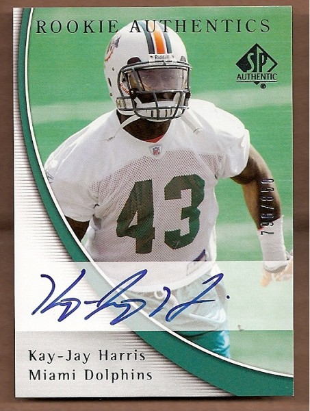 2005 SP Authentic #183 Kay-Jay Harris AU RC