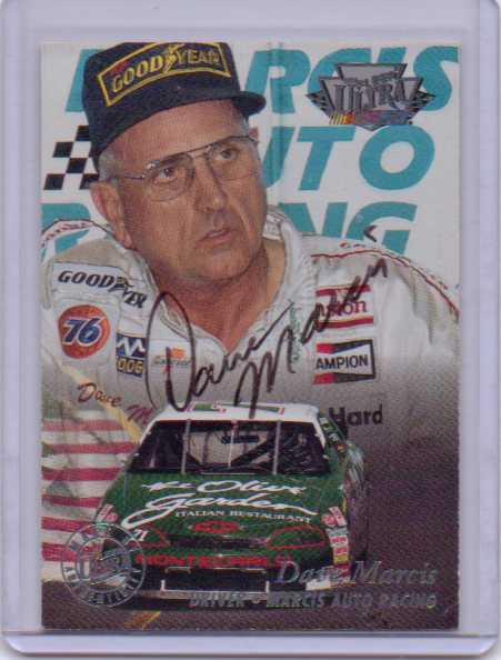 1996 Ultra Autographs #18 Dave Marcis