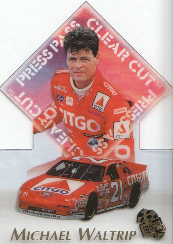 1997 Press Pass Clear Cut #C10 Michael Waltrip