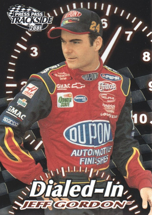 2001 Press Pass Trackside Dialed In #D4 Jeff Gordon
