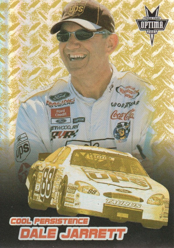 2001 Press Pass Optima Cool Persistence #CP6 Dale Jarrett
