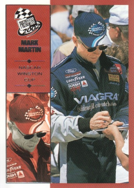 2002 Press Pass #22 Mark Martin