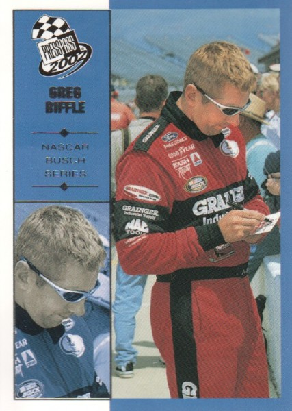 2002 Press Pass #37 Greg Biffle NBS