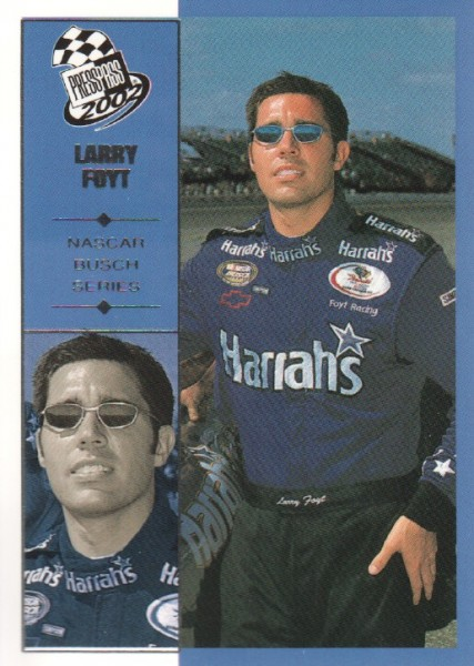 2002 Press Pass #38 Larry Foyt NBS RC