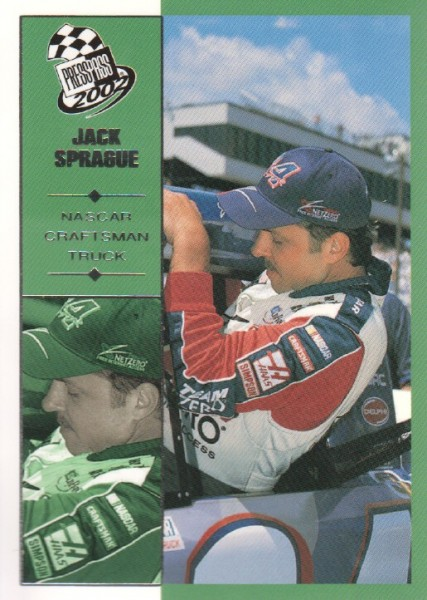 2002 Press Pass #58 Jack Sprague CTS