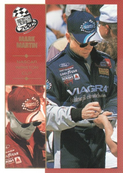 2002 Press Pass Platinum #22 Mark Martin