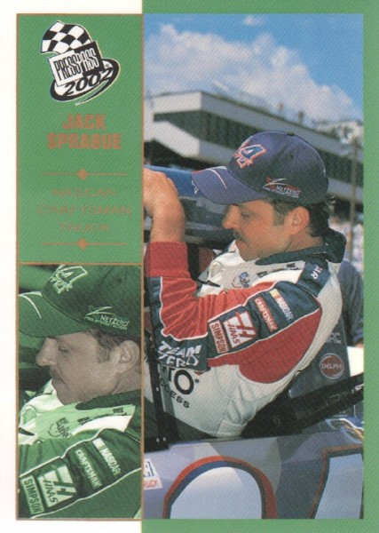 2002 Press Pass Platinum #58 Jack Sprague CTS