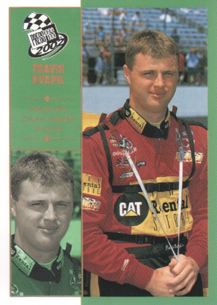 2002 Press Pass Platinum #59 Travis Kvapil CTS