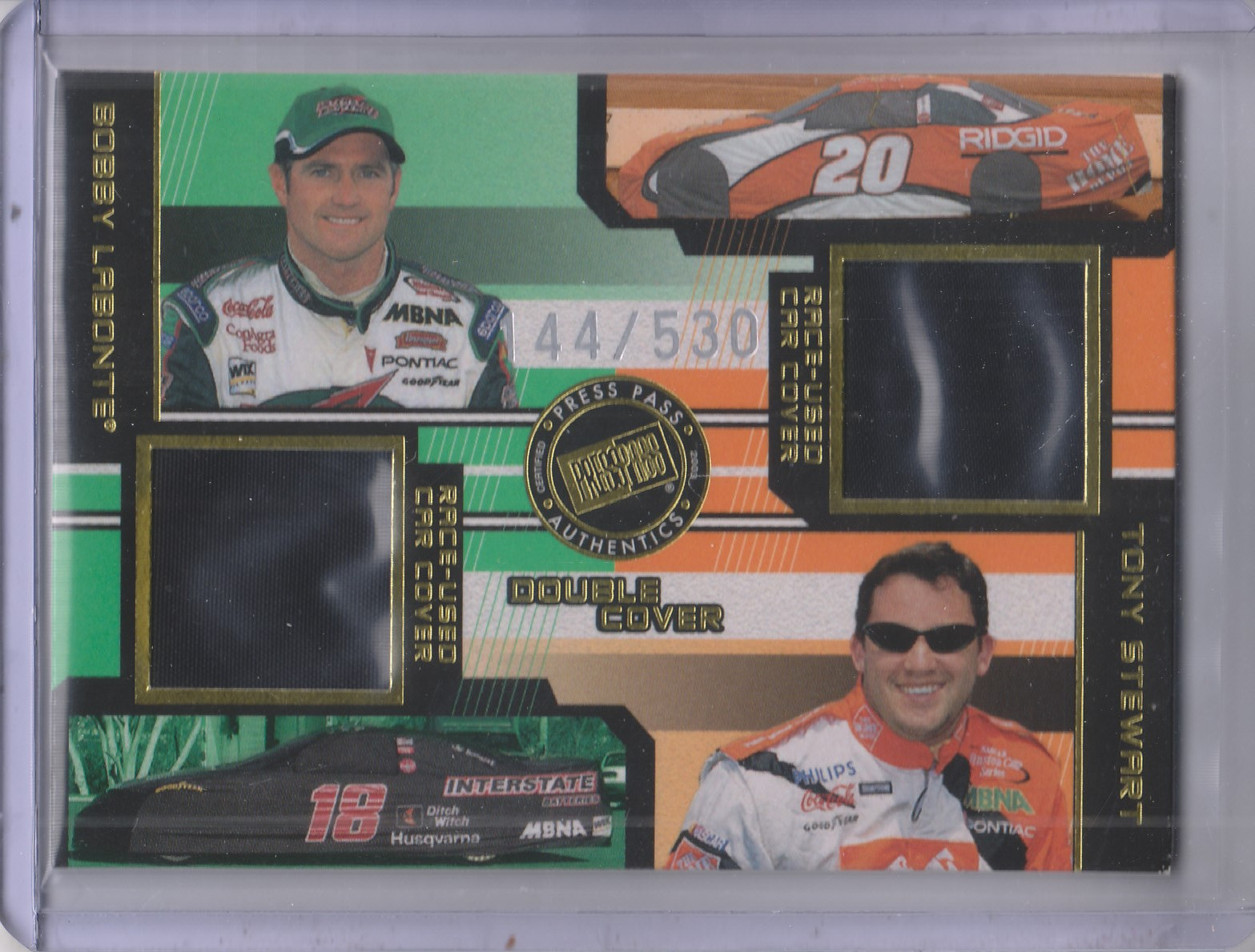 2003 Press Pass Eclipse Under Cover Double Cover #DC7 Bobby Labonte/Tony Stewart