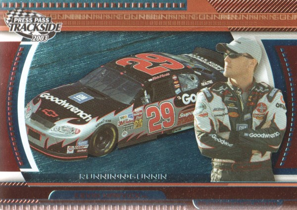2003 Press Pass Trackside Runnin n' Gunnin #RG11 Kevin Harvick