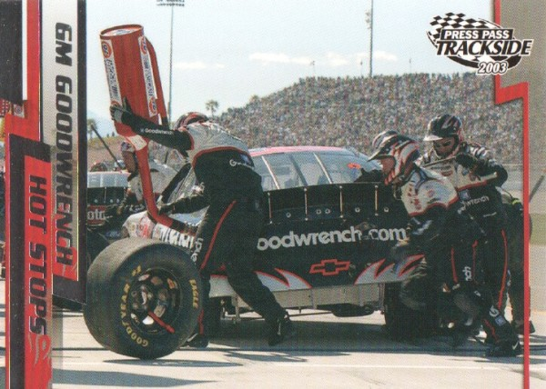 2003 Press Pass Trackside #68 Kevin Harvick in Pits