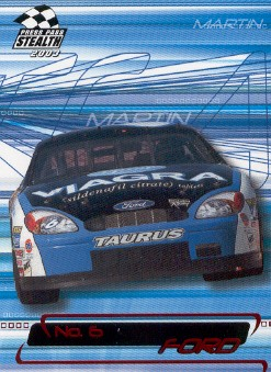 2003 Press Pass Stealth Red #P8 Mark Martin's Car