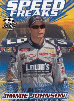 2003 Press Pass Stealth Red #P67 Jimmie Johnson SF