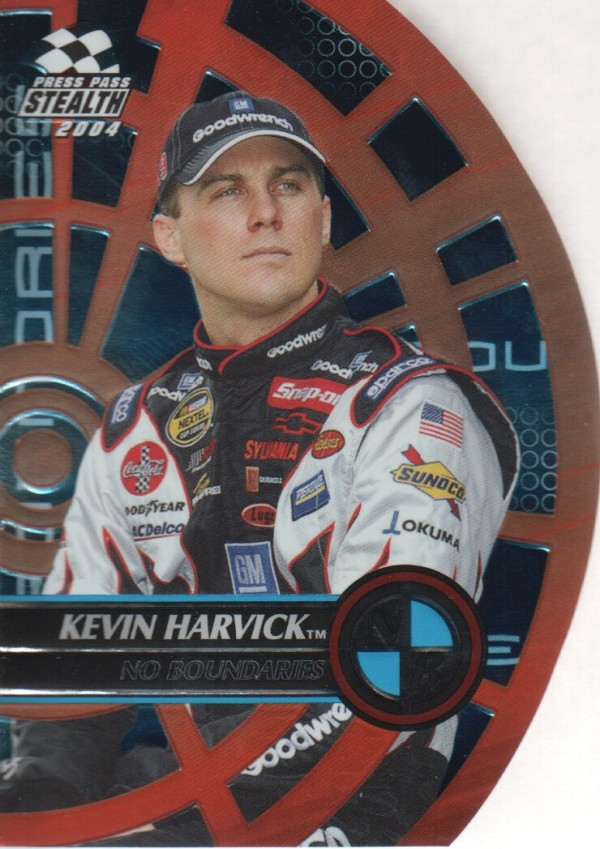 2004 Press Pass Stealth No Boundaries #NB13 Kevin Harvick