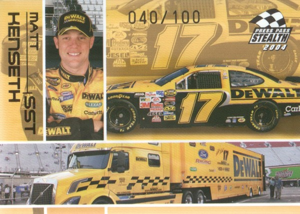 2004 Press Pass Stealth X-Ray #85 Matt Kenseth SST