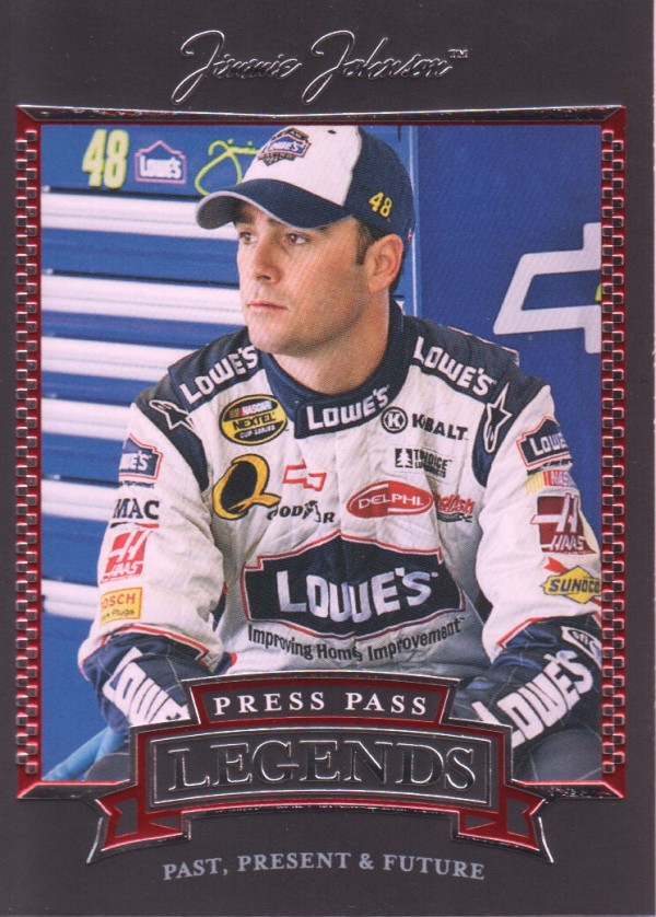 2005 Press Pass Legends #31 Jimmie Johnson