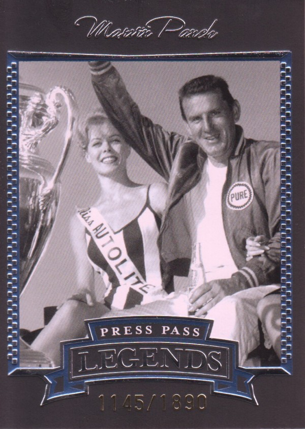 2005 Press Pass Legends Blue #4B Marvin Panch