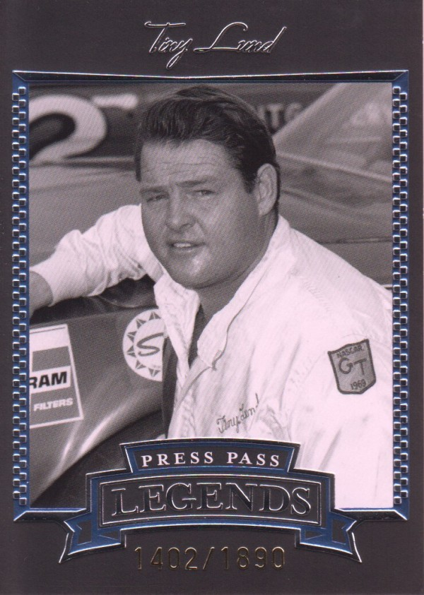 2005 Press Pass Legends Blue #6B Tiny Lund