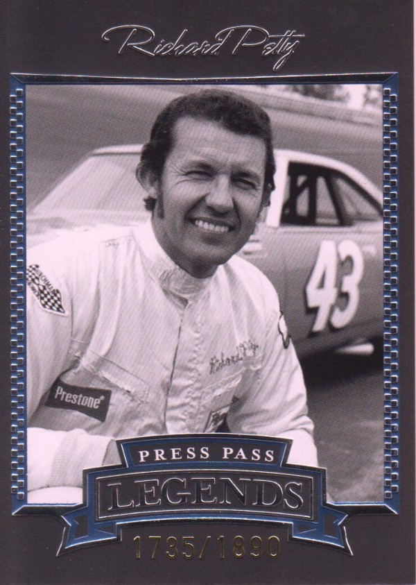 2005 Press Pass Legends Blue #10B Richard Petty