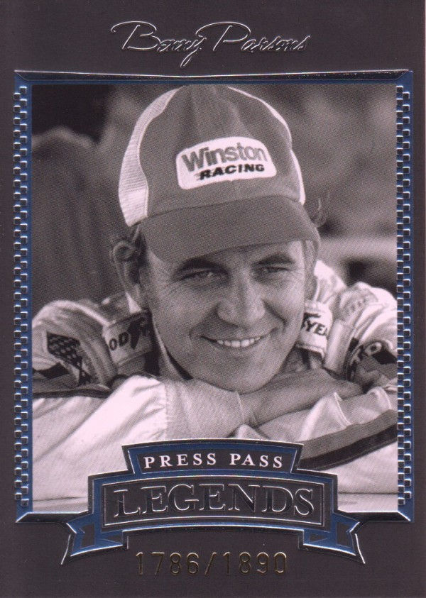2005 Press Pass Legends Blue #15B Benny Parsons