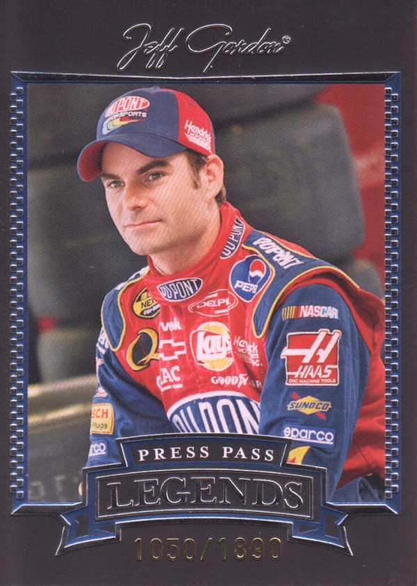 2005 Press Pass Legends Blue #28B Jeff Gordon