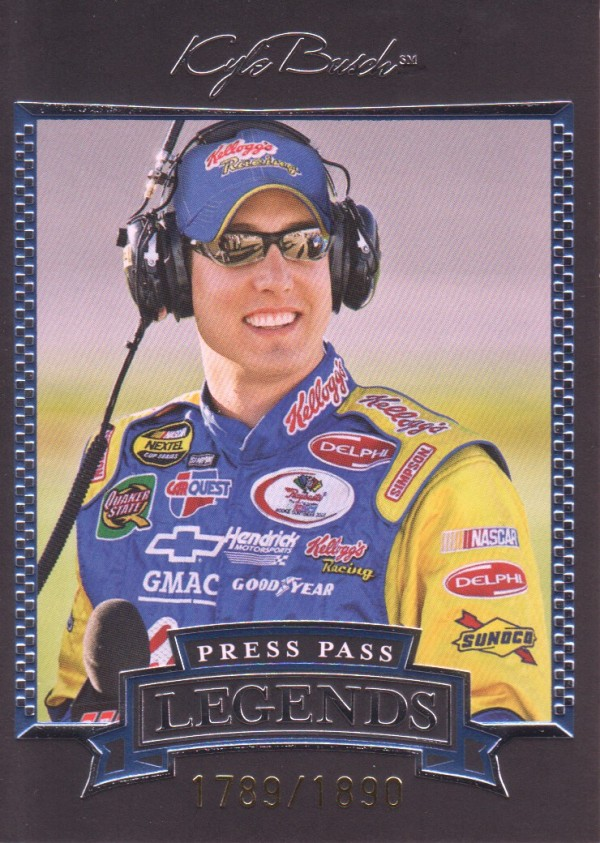 2005 Press Pass Legends Blue #33B Kyle Busch