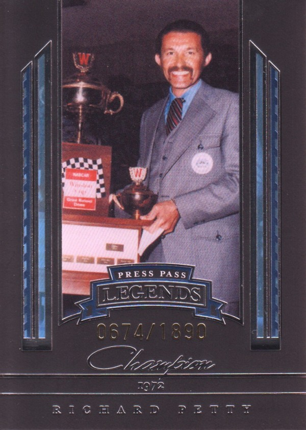 2005 Press Pass Legends Blue #34B Richard Petty C