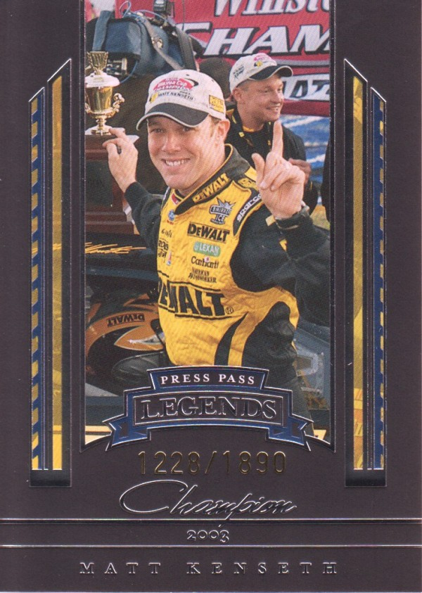 2005 Press Pass Legends Blue #45B Matt Kenseth C