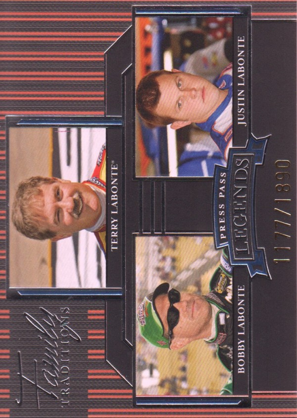 2005 Press Pass Legends Blue #49B T.Labonte/B.Labonte/J.Labonte FT