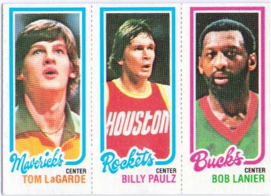 1980-81 Topps #104 69 Tom LaGarde/109 Billy Paultz/150 Bob Lanier