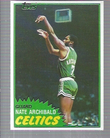 1981-82 Topps #3 Nate Archibald