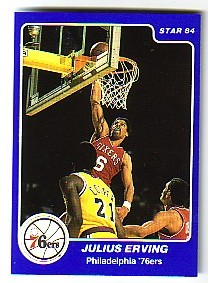 1984-85 Star Arena #E1 Julius Erving