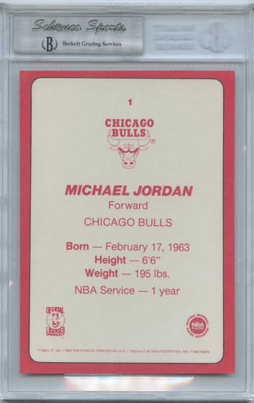 1985 Star Team Supers 5x7 #CB1 Michael Jordan back image