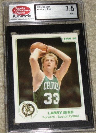 1985-86 Star #95G Larry Bird Green