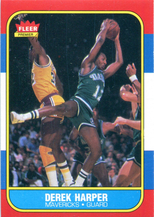 1986-87 Fleer #44 Derek Harper RC