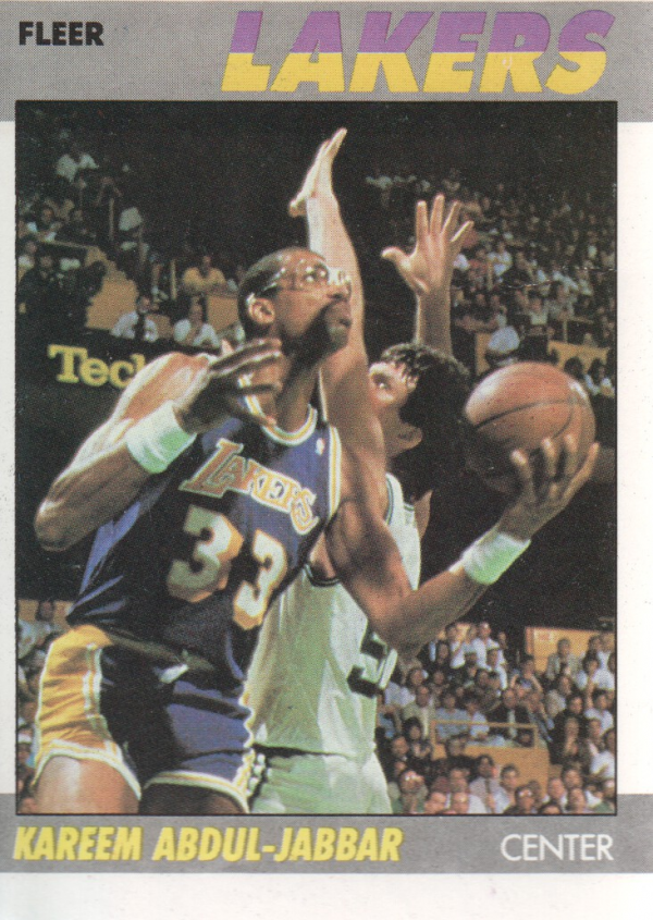1987-88 Fleer #1 Kareem Abdul-Jabbar !
