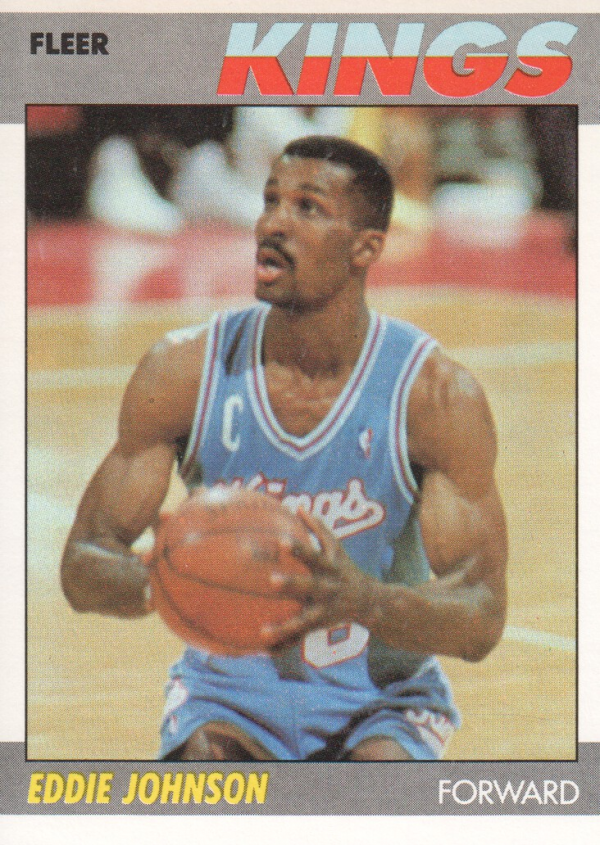 1987-88 Fleer #55 Eddie Johnson