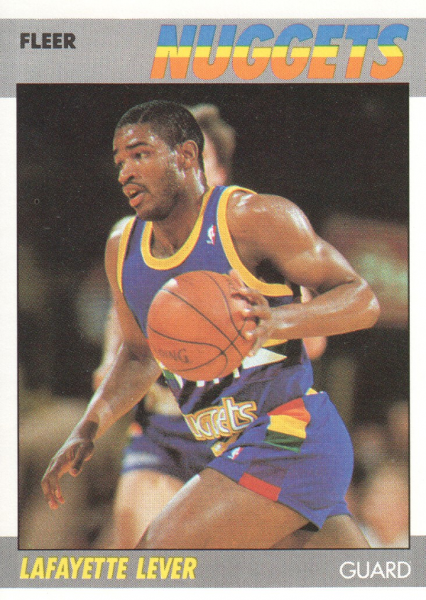 1987-88 Fleer #62 Lafayette Lever UER/(Photo actually Otis Smith)