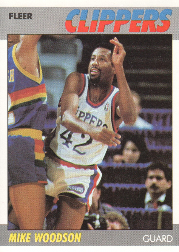 1987-88 Fleer #128 Mike Woodson